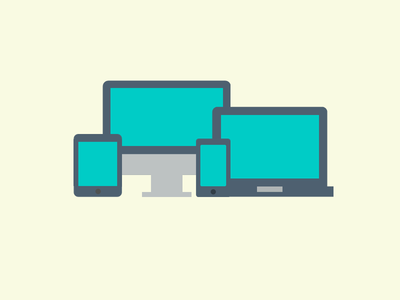 Vector computer, laptop and mobile illustration
