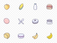 100+ high quality vector food icons