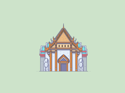 Thai Temples icon icons illustration vector house building temple thai