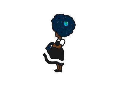 Black Girl Magic  black girl magic earth love fun illustration design graphic