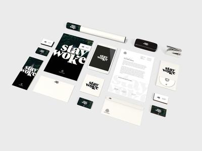 Stay Woke Brand Package cd ipad graphics poster a4 identity design branding woke stay
