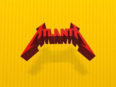 I ♥ Atlanta red yellow design metallica graphic love atlanta