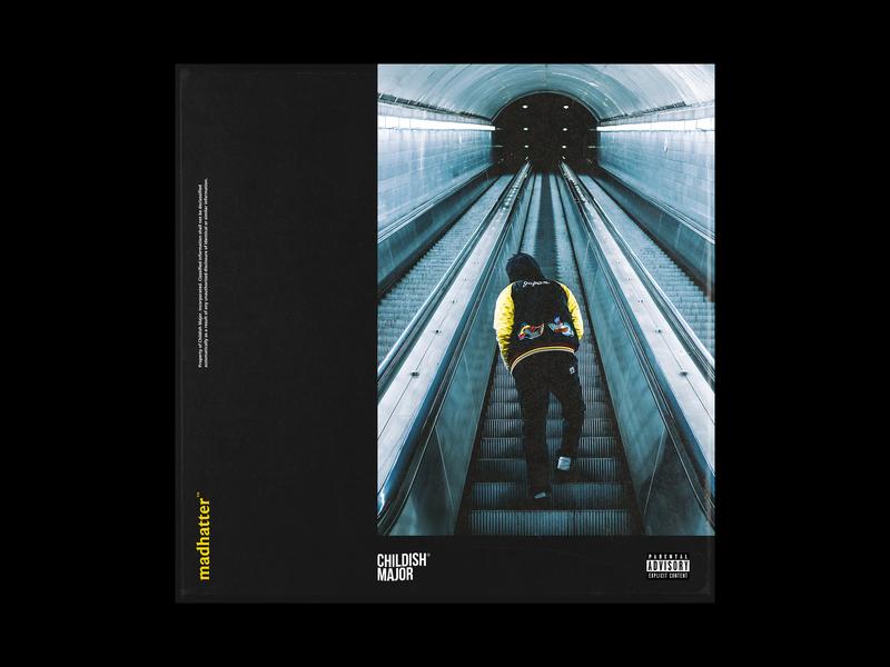 Madhatter Album Art for Childish Major cd packaging childish major atlanta simple design graphic identity graphics album cover design album cover album artwork cd