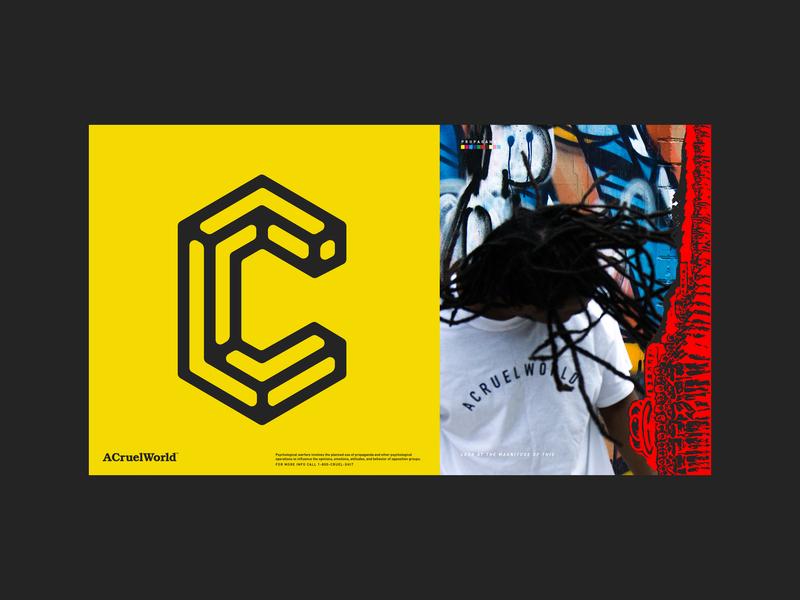 Damn it's ACruelWorld clothing design photgraphy identity simple atlanta graphics logo design