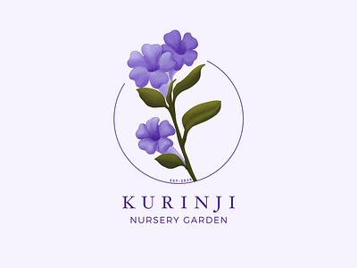 Kurinji Logo cards branding design illustration logo
