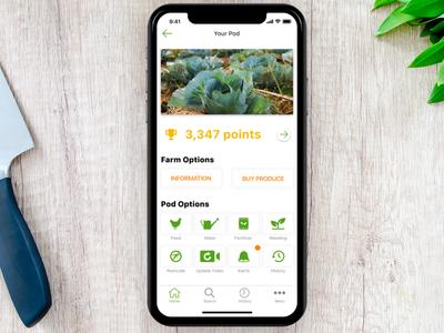 Farmr Your Pod ux design ui mobile ui iphone x iphone farming earth