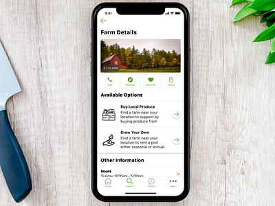 farmr - farm details earth farming iphone iphone x mobile ui ui ux design