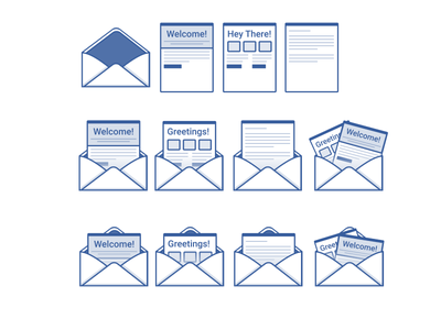 Email Icons news letter newsletter email design email ux design ui design design illustration