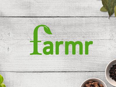 Farmr Logo fruit vegetables food cooking fesh farming organic logo branding