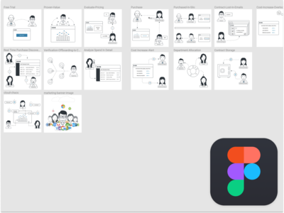 Characters drawn in figma people characters figma vector illustration ux design ux ui