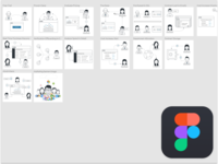 Characters drawn in figma