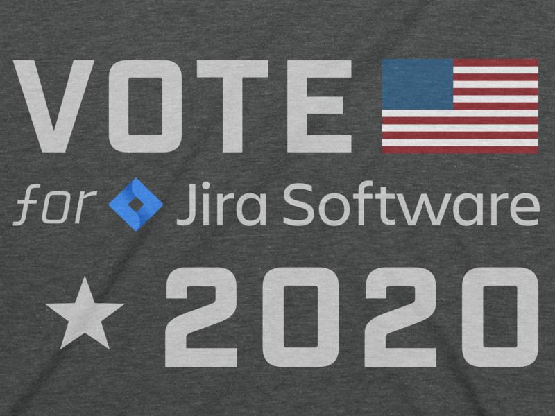 Vote For Jira 2020 sticker design stickers designer fun sticker graphic logo american vote campaign graphic design jira uxui product management ux