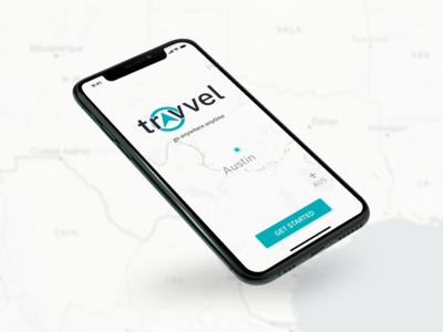 Travvel - splash screen startup traveling travel app blue ui mobile ui mobile app design iphone x ui design ios ux design ux travel