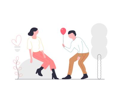 Couples illustration design flat illustration ux 灵感 ui