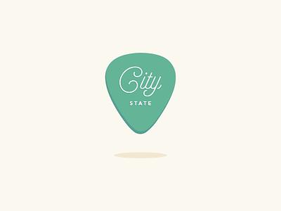 Guitar Pick Map Pin