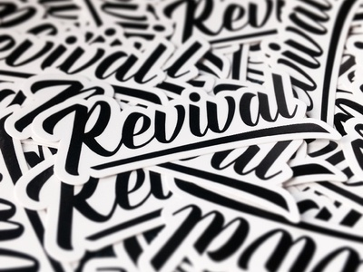 Revival Stickers die cut script stickers