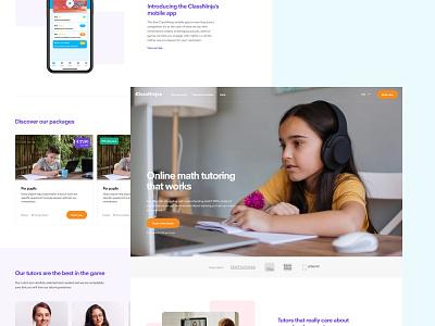 ClassNinjas Website Relaunch ux ecommerce edtech web ui design