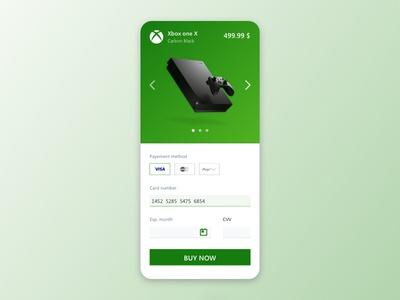 UI Mobile Xbox One X