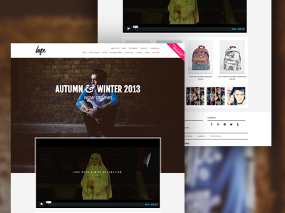 HYPE AW'13 justhype hype fashion website ecommerce bigcartel css html jquery