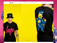 HYPE x Simpsons Announcement Page