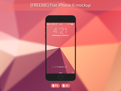 Flat iPhone 6 mockup ai iphone6 iphone freebie free mockup template download psd ios phone psddd