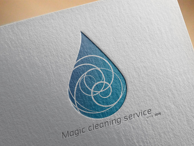 Magic Cleaning Service - Logo design logo drop cleaning blue abstract simple