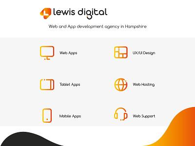 icon set for digital agency website brand business graphic design web design web concept vector design illustrator icons icon ui icons ui design ui icon set