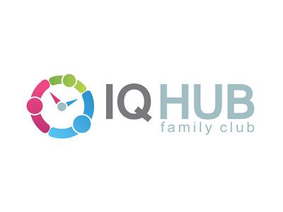 logo for family club concept family family club hub iq brand illustrator business logo design graphic design branding vector