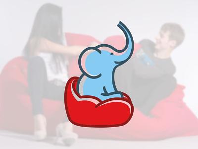 Elephant business brand logo design branding graphic design vector mascot character design character furniture logo furniture elephant logo elephant