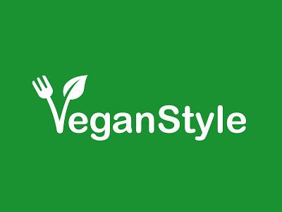 Vegan Style healthy eating healthy food healthy design creative vector graphic design logo design logo fork eat green logo food logo food vegan