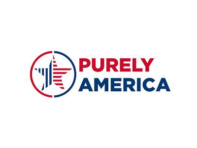 Purely America purely concept design graphic design vector brand design brand branding identity design logotype logo design usa america logo