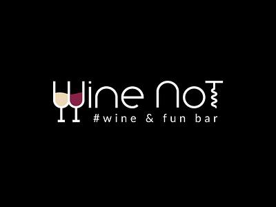 logo Wine Not design business graphic design vector wine vine house vine logos logo branding design brand identity brand design branding brand
