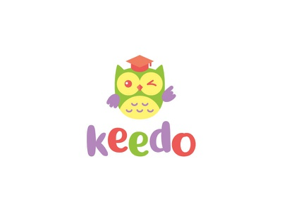 logo for kindergarten mascot logo mascot character kids owl vector logo design concept brand branding design brand agency logo design logos logo brand identity brand design branding