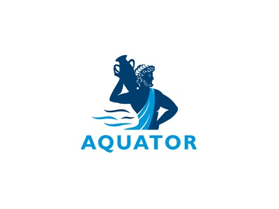 AQUATOR logofactory brand identity logodesign logo design antique greece branding design business brand design graphic design design branding brand water logo water logo