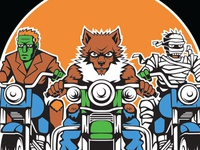 Monster Bikers Illustration