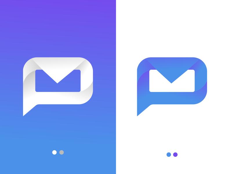 P MAIL mobile app flat logos icon clean design simple logo conceptual flat minimal logo minimalist logo modern logo graphic design logo design mail chat app icon chat app mail mailbox letter p