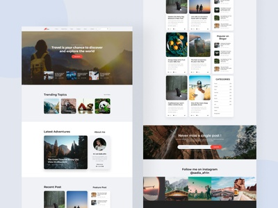 Travel and blog post webstie template travel agency ux design uidesign ui  ux ui travelling websites ui tamplate website traveling travel app blog post travel travel website