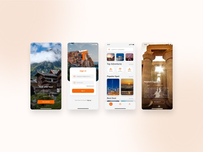 Travel and booking app concept template mobile app traveling app travel app design travel apps travel app ui travelling travel agency travel app ui  ux traveling travel uiux uidesign ui design ui