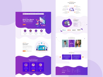 SEO & Digital marketing landing page seo service website concept website ui design website ui ux website builder landingpage website seo agency seo company seo services uiux ui trendy products search digital marketing course digital marketing agency