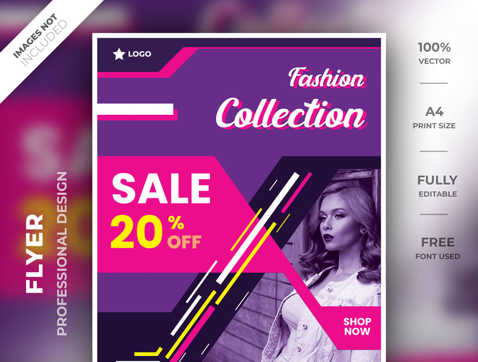 Flyer Template For Fashion Design By Graphic Arena On Dribbble