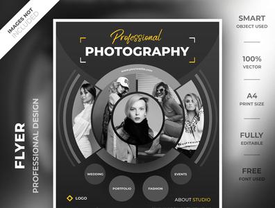 Photography flyer template modern smart object high resolution a4 identity brand flyer psd creative flyer flyer template flyer photography photography flyer flyer design