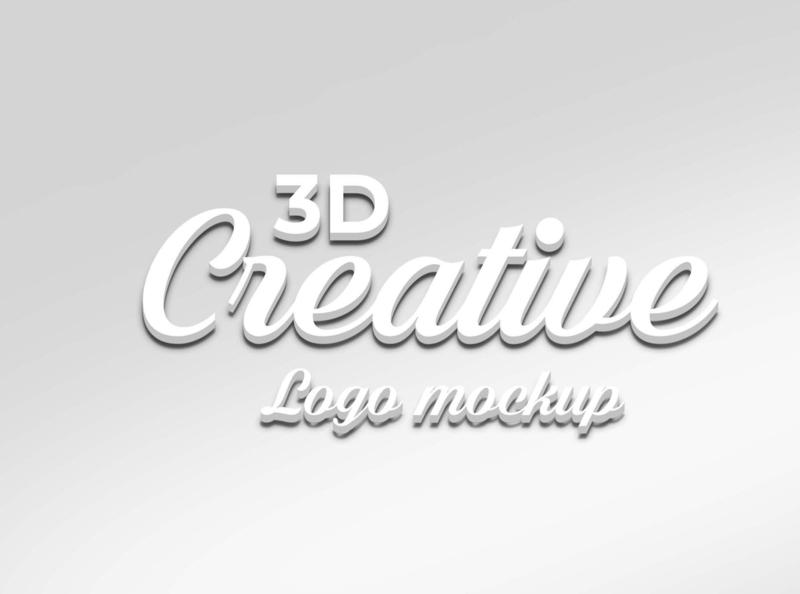 3d logo mockup logo mockup 3d style text 3d text text effect