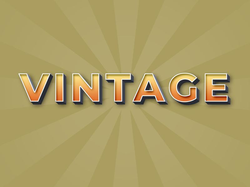 Vintage text effect logo mockup vintage style text vintage text effect text effect