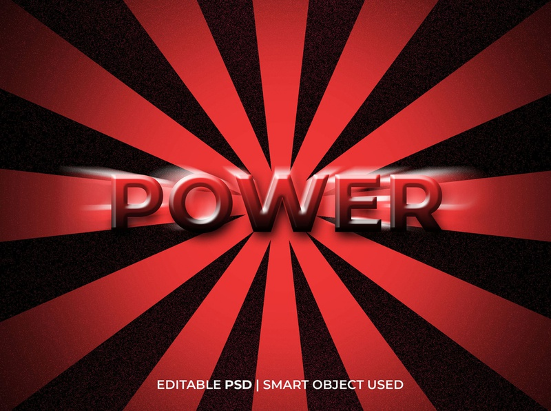 Power text effect logo mockup power style text power text effect text effect