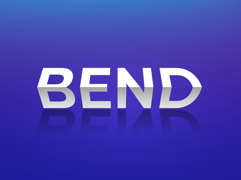 Bend text effect logo mockup bend style text bend text effect text effect