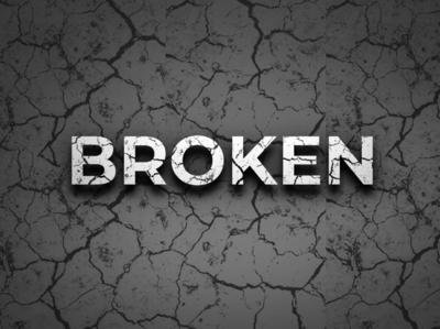 Broken effect logo mockup broken style text broken text effect text effect