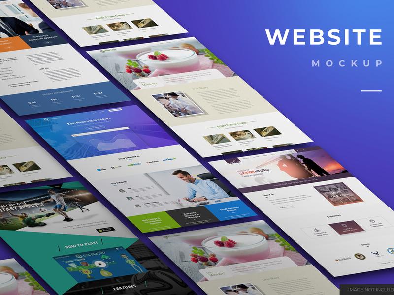Website mockup design high resolution smart object identity website desktop desktop mockup mockup