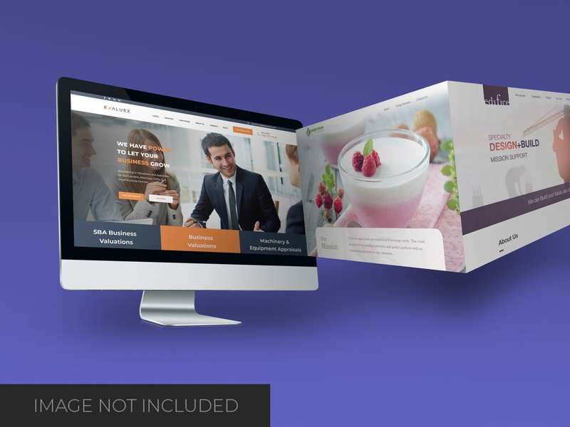 Websites mockup smart object identity high resolution brand website desktop desktop mockup mockup