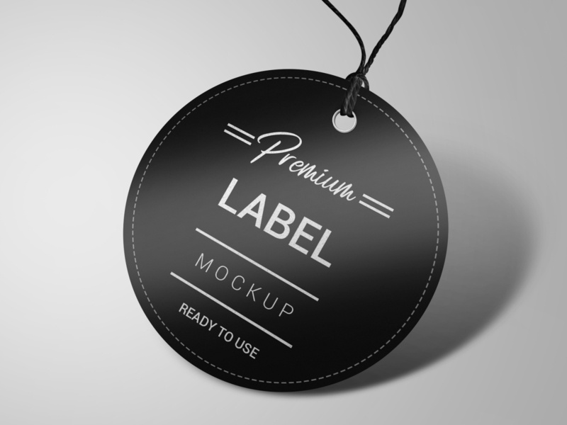 Circle label mockup identity smart object high resolution brand label mockup round label