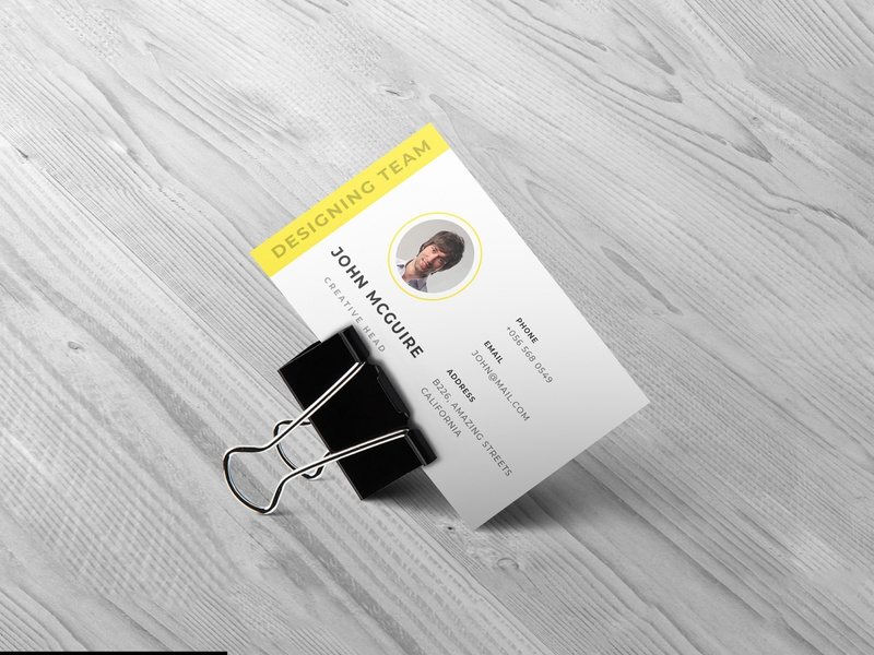 Clipped business card design mockup smart object identity brand high resolution mockup visiting card business card